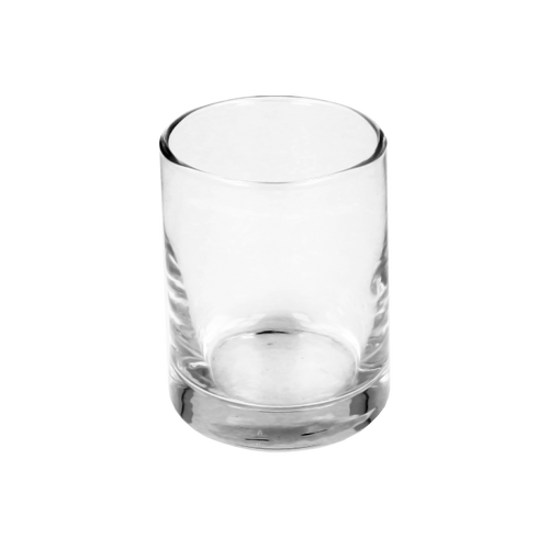 9cl Clear Whisky Candle Glass