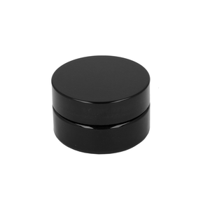 50ml Violet Miron Glass Shallow Jar & Black Lid