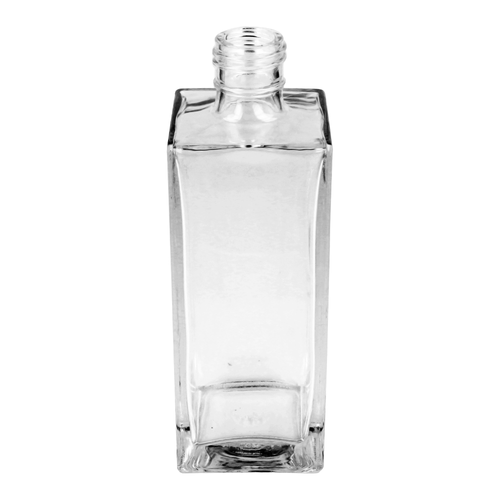 200ml Clear Tall Square Clayton Bottle