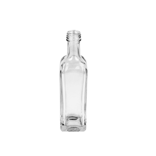 100ml Clear Square Marasca Bottle (24mm Neck)