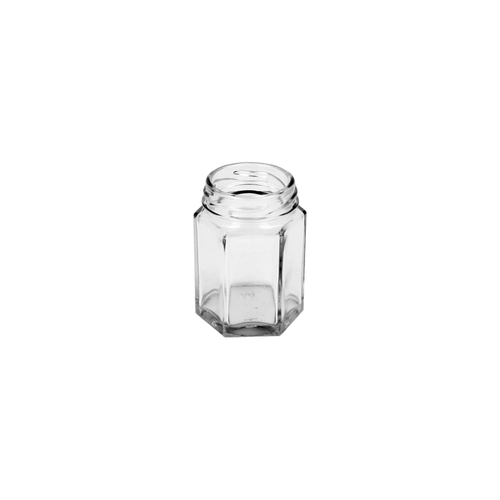 55ml Clear Glass Hexagon Jar