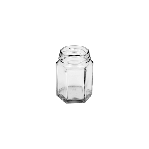 Glass Hexagonal Jar