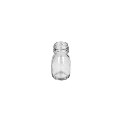 30ml Clear Glass Alpha Bottle