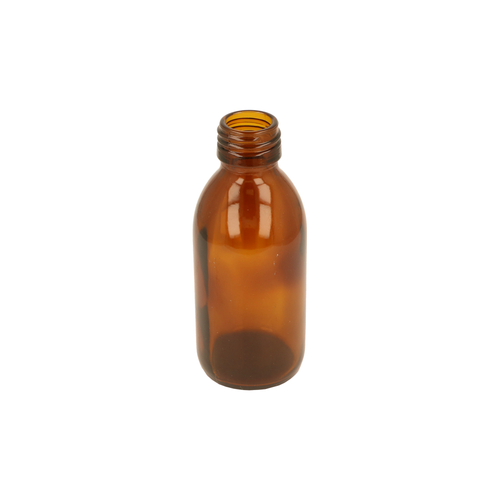 Amber Glass Alpha Bottle