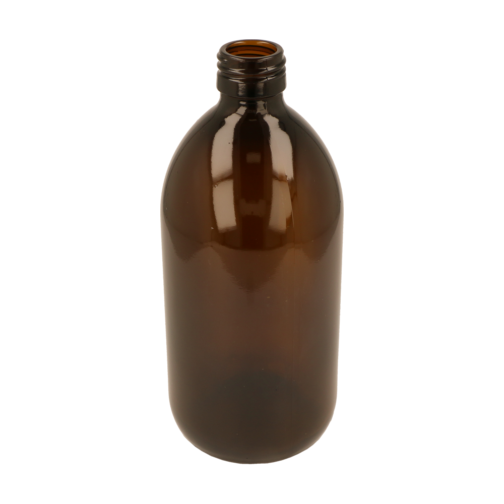 Glass Bottle (500ml Amber Alpha)