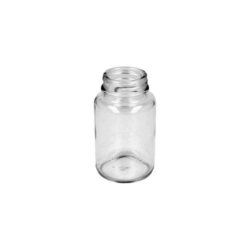 Clear Glass Powder Jar