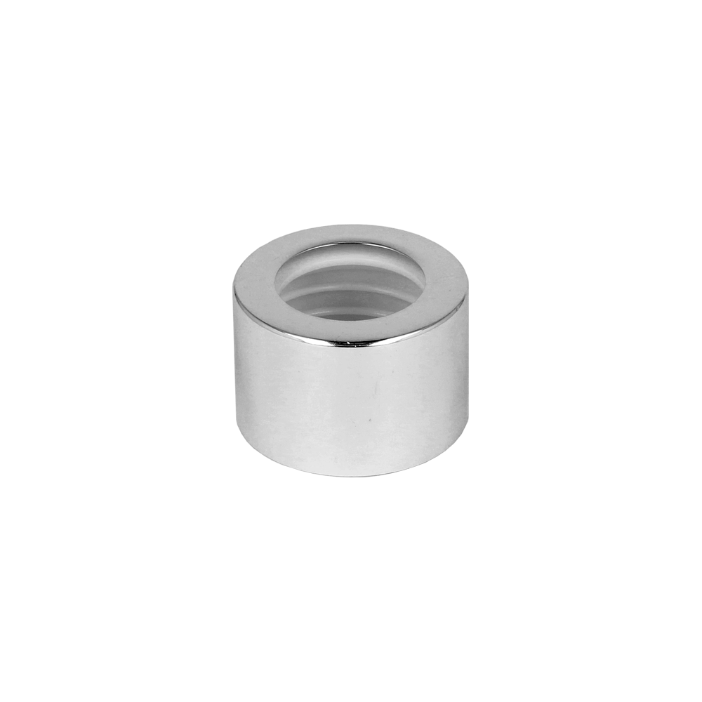 28/410 Gloss Silver Metal Shelled Diffuser Cap