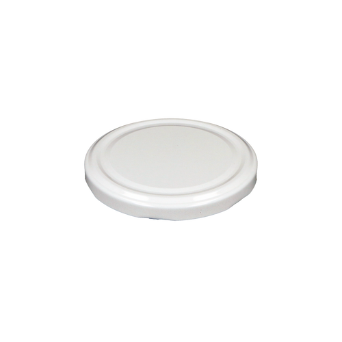 Glass Jar Lid in White