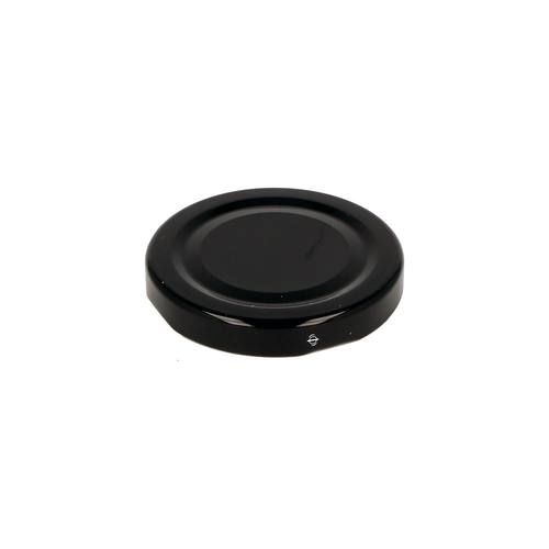 Glass Jar Lid Black