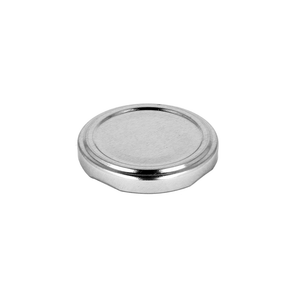 Silver glass jar lid