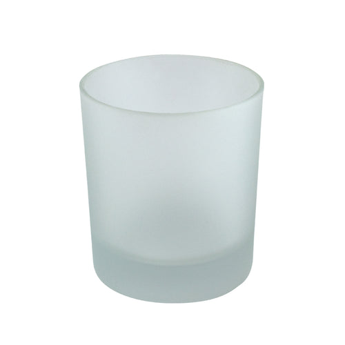 30cl Matt Frosted Externally Sprayed Karen Candle Glass
