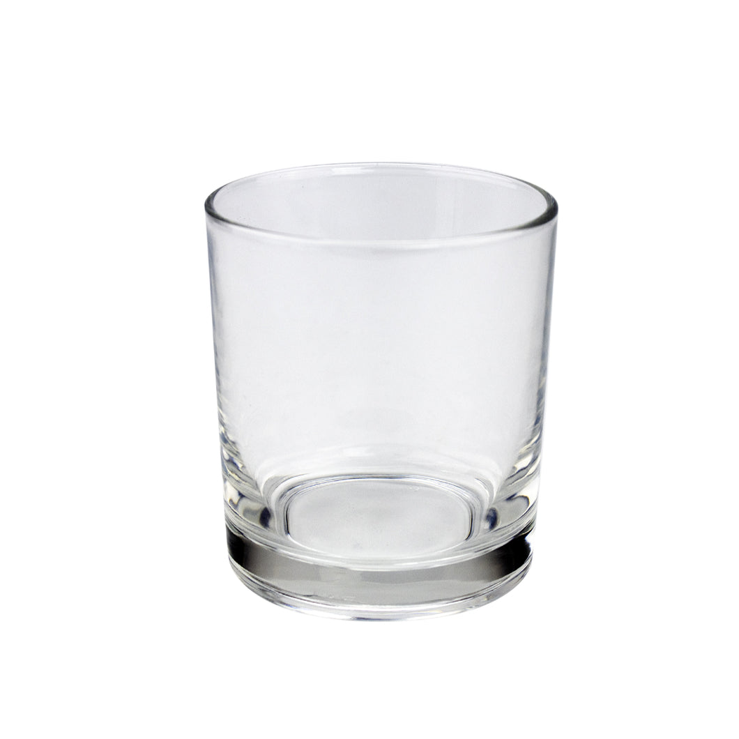24cl Clear Geo Candle Glass