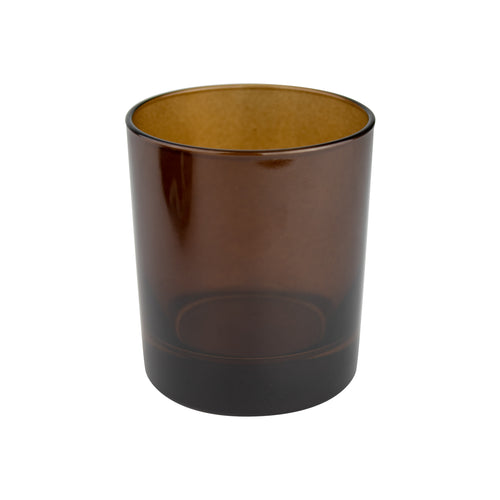 30cl Gloss Transparent Amber Externally Sprayed Candle Glass