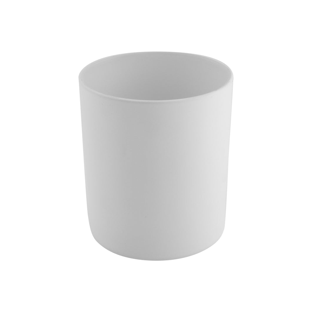 30cl Matt White Externally Sprayed Karen Candle Glass