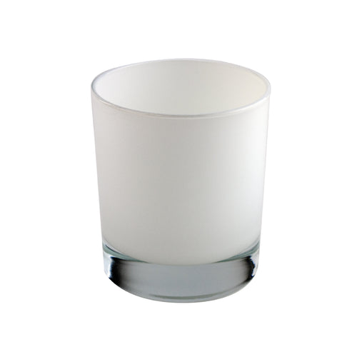 30cl Gloss White Internally Sprayed Karen Candle Glass