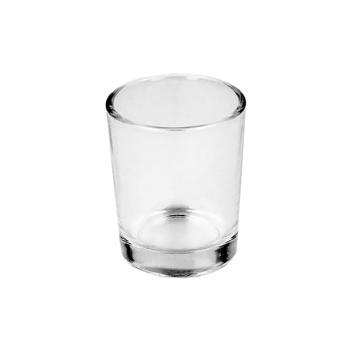 9cl Clear Meredith Candle Glass