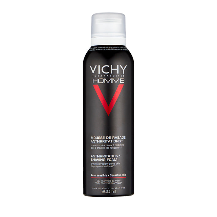 Vichy Homme Anti-Irritation Shaving Foam 200ml - Arden Skincare Ltd.