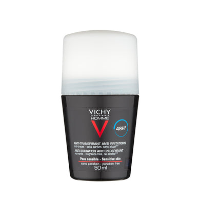 Vichy Homme Deodorant Roll On Sensitive Skin 50ml - Arden Skincare Ltd.