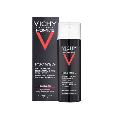 Vichy Homme Hydra Mag-C 2-In-1 Anti-Fatigue Moisturiser 50ml - Arden Skincare Ltd.
