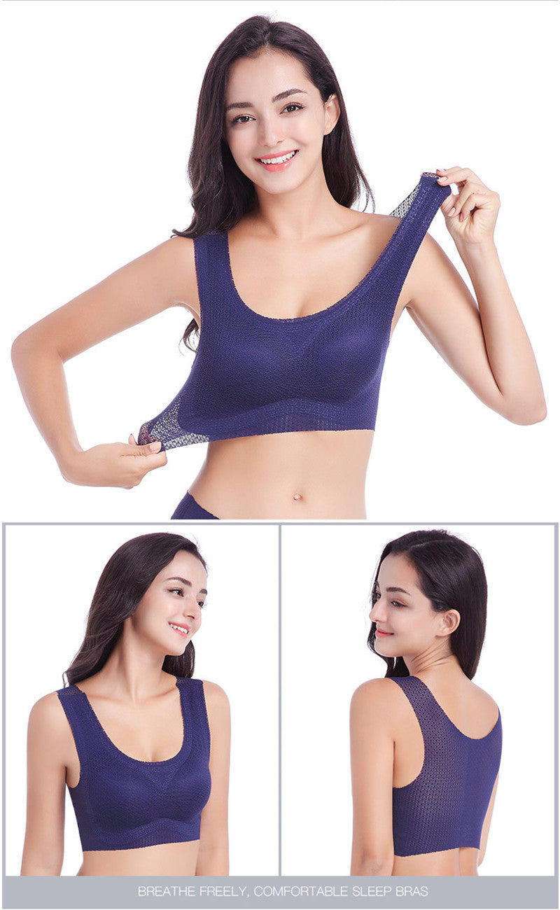 BODY MAPPED BREATHABLE SPORTS BRA PLUS
