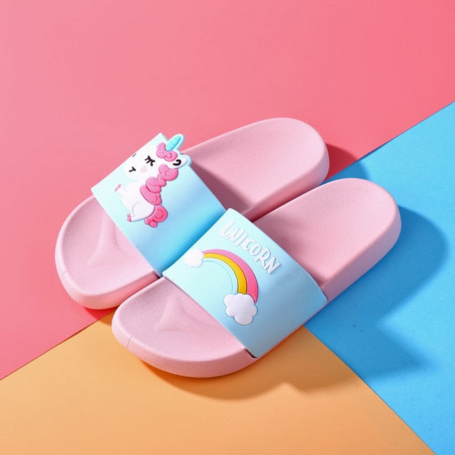 Unicorn Children Beach Slippers