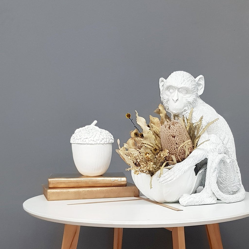 Load image into Gallery viewer, White Monkey Bowl