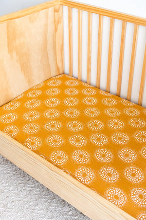 Organic Cotton + Bamboo Fitted  Cot Sheets Hazel