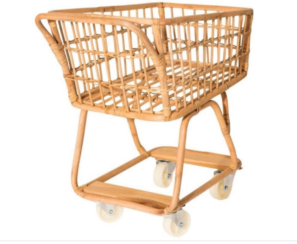 Poppie Rattan Childrens Shopping Trolley
