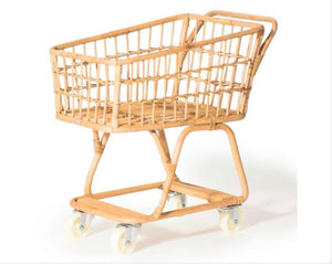 Load image into Gallery viewer, Poppie Rattan Childrens Shopping Trolley