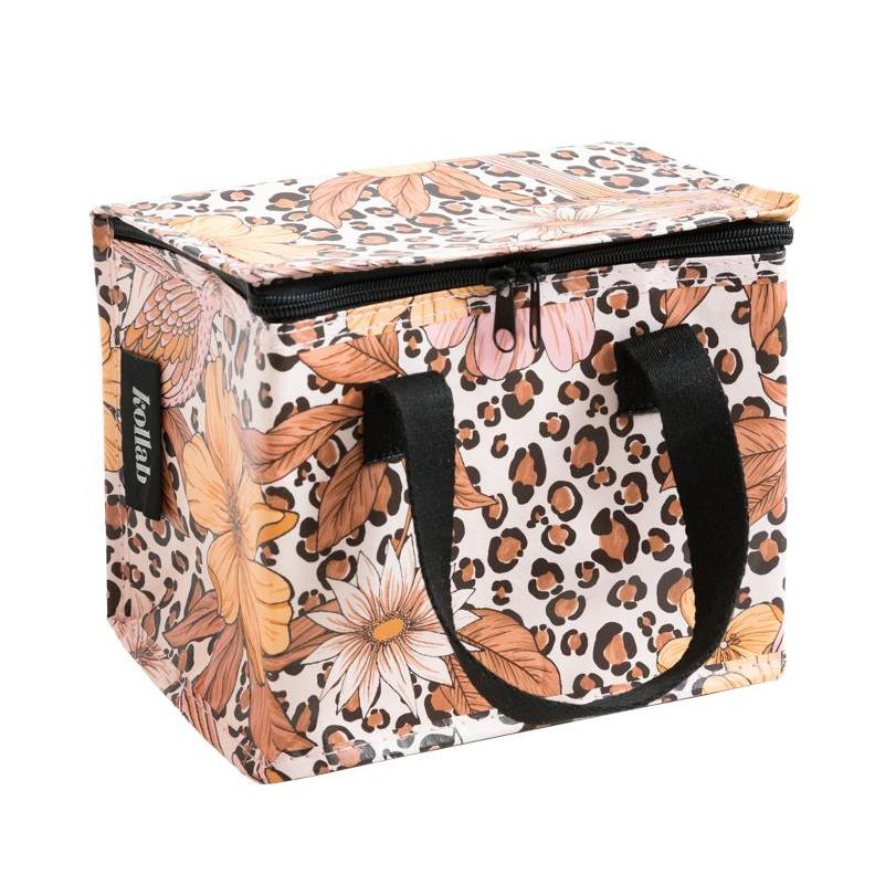 Lunch Box . Leopard Floral