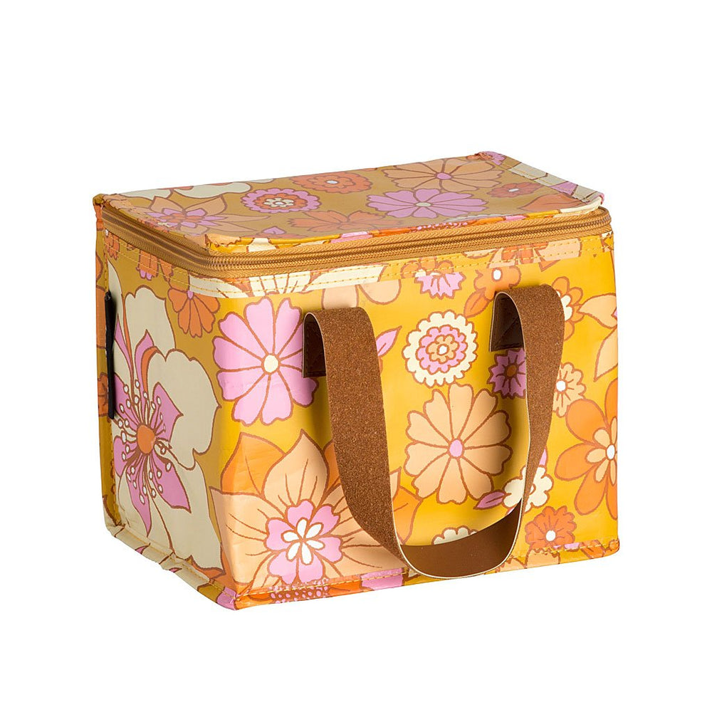 Lunch Box . Retro Mustard Floral