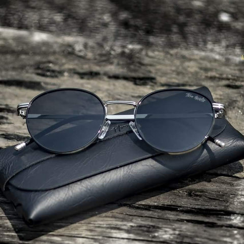 ODYSSE BLACK ROUND SUNGLASSES