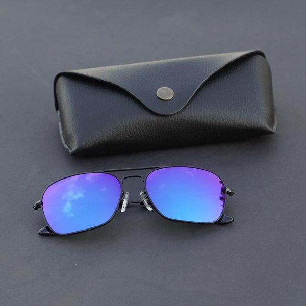 Raees Black And Blue Mercury Square Sunglasses