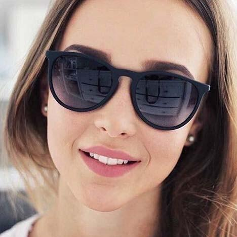Black Round Lightweight Comfortable Sunglasses For Men and Women