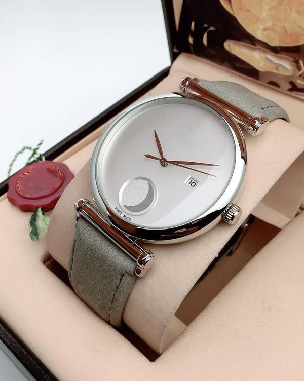 Grey Belt White Dial Dashing Watch