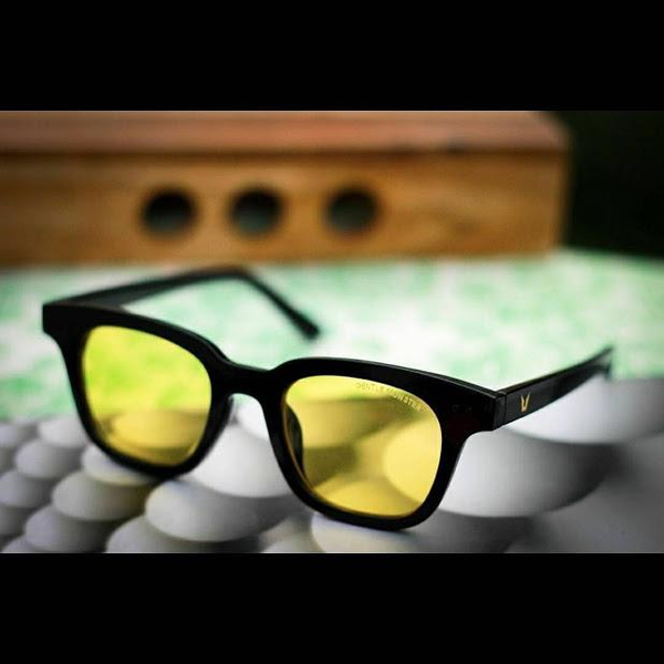 Black Yellow Square Lightweight Comfortable Sunglasses For Men and Women