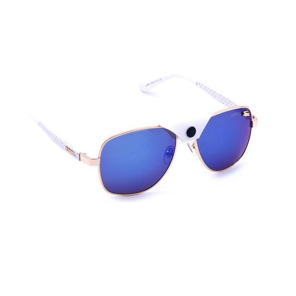 Blue, Gold Rectangle Strong and Durable Sunglasses For Men and Women
