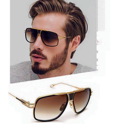 Black Brown Rectangle Lightweight Comfortable Sunglasses For Men and Women