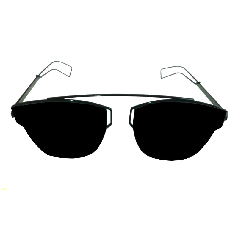 FCS Black, Black Rectangle Lightweight Comfortable Sunglasses For Men and Women