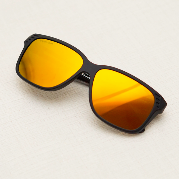 ORANGE CLASSIC SQUARE SUNGLASSES