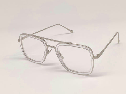TRANSPARENT  SQUARE SUNGLASSES