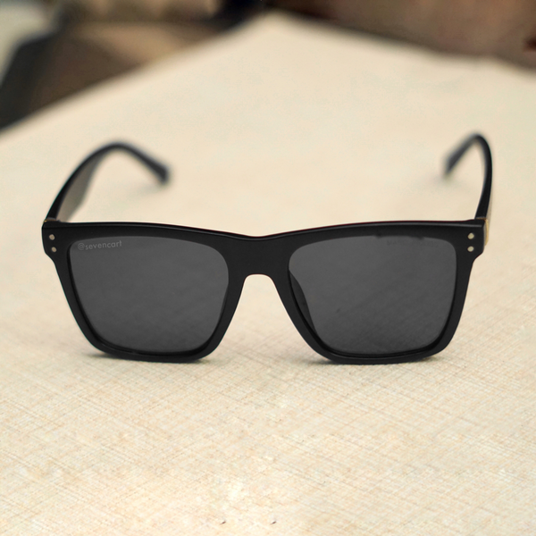 Black Retro Square Unisex Sunglasses