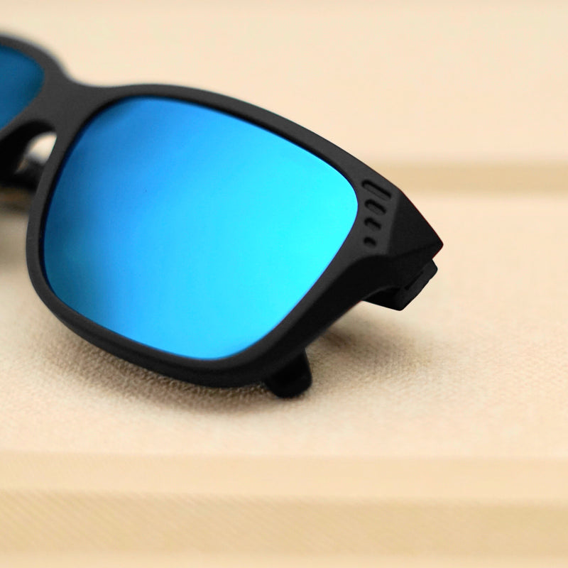 AQUA BLUE CLASSIC SQUARE SUNGLASSES