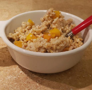 Peachy Steel Cut Oatmeal