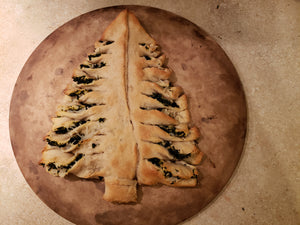 Festive Pizza Crust Pine Tree