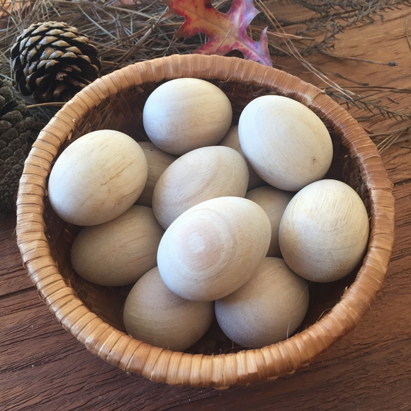 Natural Wooden Eggs