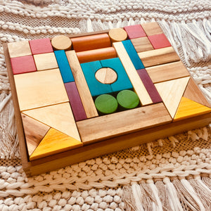 Natural Coloured Wooden Blocks