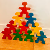 Rainbow Stacking People