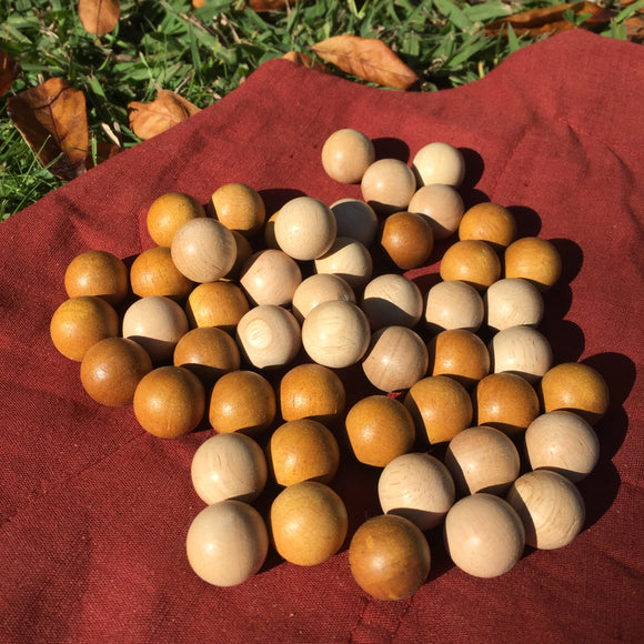 Two Tone Wooden Balls