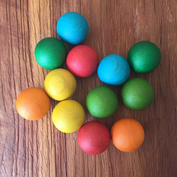 Large Coloured Wooden Balls